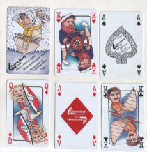 Collectible Advertising playing cards. Clamcleats.  Celia Allison 1986